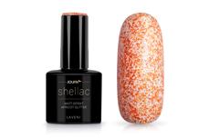Jolifin LAVENI Shellac - Matt-Effekt apricot Glitter 12ml