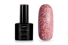 Jolifin LAVENI Shellac - Matt-Effekt rosy Glitter 12ml