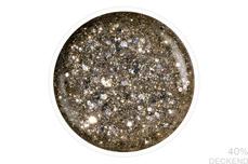Jolifin LAVENI Shellac - silver-prosecco Glitter 12ml