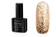 Jolifin LAVENI Shellac - silver-bronce Glitter 12ml