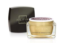 Jolifin LAVENI Farbgel - lavender ice cream Glitter 5ml