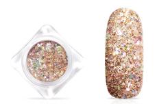 Jolifin Glittermix Flakes - prosecco-rosy