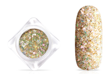 Jolifin Glittermix Flakes - gold-rosy