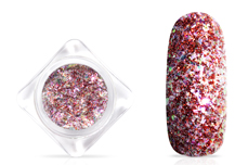 Jolifin Glittermix Flakes - red-rosy