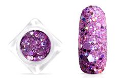 Jolifin Hexagon Glittermix - hologramm lavender
