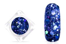 Jolifin Hexagon Glittermix - hologramm blue