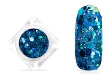 Jolifin Hexagon Glittermix - hologramm ocean
