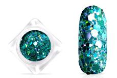 Jolifin Hexagon Glittermix - hologramm türkis