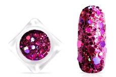 Jolifin Hexagon Glittermix - hologramm berry