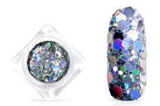 Jolifin Hexagon Glittermix - hologramm silver