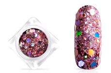 Jolifin Hexagon Glittermix - hologramm rosé