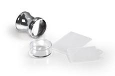 Jolifin XL Jelly Stempel - chrome silber - soft