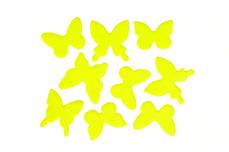 Jolifin Schmetterling Sticker - neon-yellow