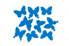 Jolifin Schmetterling Sticker - neon-blue