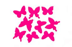 Jolifin Schmetterling Sticker - neon-pink