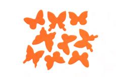 Jolifin Schmetterling Sticker - neon-orange