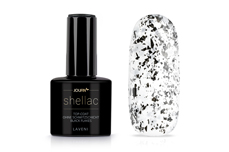 Jolifin LAVENI Shellac - Top-Coat ohne Schwitzschicht black flakes 12ml