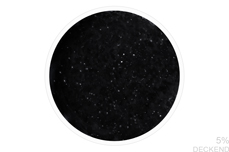 Jolifin LAVENI Shellac - Top-Coat super matt ohne Schwitzschicht black flakes 12ml