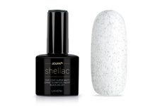 Jolifin LAVENI Shellac - Top-Coat super matt ohne Schwitzschicht black velvet 12ml