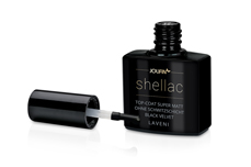 Jolifin LAVENI Shellac - Top-Coat super matt ohne Schwitzschicht black velvet 12ml