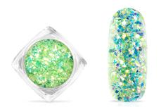 Jolifin Aurora Flakes Glittermix - green