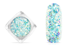 Jolifin Aurora Flakes Glittermix - white