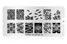 MoYou-London Schablone Tropical Collecion 20