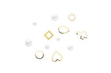 Jolifin Einleger Display XL - Perlen gold