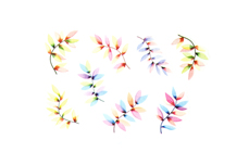Jolifin LAVENI XL Sticker - Flowers Nr. 11