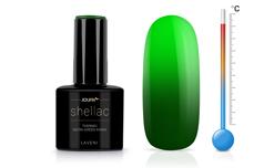 Jolifin LAVENI Shellac - Thermo neon-green khaki 12ml