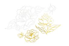 Jolifin LAVENI XL Sticker - Gold 13