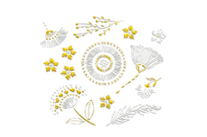 Jolifin LAVENI XL Sticker - Gold 14