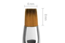Jolifin Aqua-Glitter Pinsel white - gerade Gr. 6