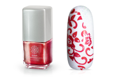 Jolifin Stamping-Lack - red Glimmer 12ml