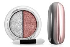 Jolifin Mirror-Chrome Compact Pigment - silver & rosé-gold