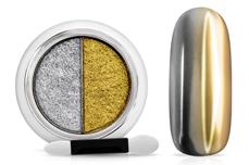 Jolifin Mirror-Chrome Compact Pigment - silver & gold