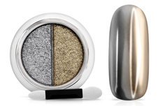 Jolifin Mirror-Chrome Compact Pigment - silver & bronce