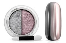 Jolifin Mirror-Chrome Compact Pigment - silver & rosé