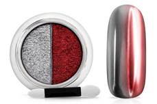 Jolifin Mirror-Chrome Compact Pigment - silver & red