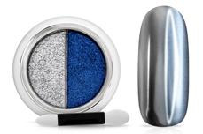 Jolifin Mirror-Chrome Compact Pigment - silver & blue