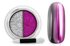 Jolifin Mirror-Chrome Compact Pigment - silver & purple-magenta