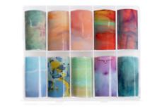 Jolifin Transfer-Nagelfolien Box - Colorful Marble II
