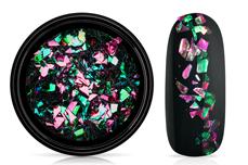 Jolifin LAVENI Foil Flakes - chameleon pink & smaragd