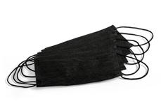 Mundschutz 10 Stück schwarz latexfrei