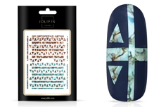 Jolifin LAVENI XL Sticker - Türkis Marble & Snakeskin