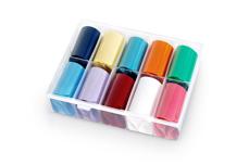 Jolifin Transfer-Nagelfolien Box - Pure Colors