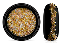 Jolifin LAVENI Magnetic Micro Pearls Mix - rosé-gold & silver & gold