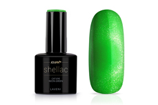 Jolifin LAVENI Shellac - Cat-Eye neon-green 12ml