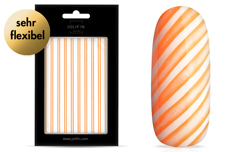 Jolifin LAVENI XL Sticker - Stripes neon-orange flash