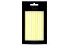 Jolifin LAVENI XL Sticker - Stripes neon-yellow flash